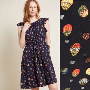 Modcloth Hot Air Balloon Navy Dress Pockets W973